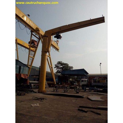 Cầu trục quay 3 tấn hàn quốc tầm với 3m đứng độc lập