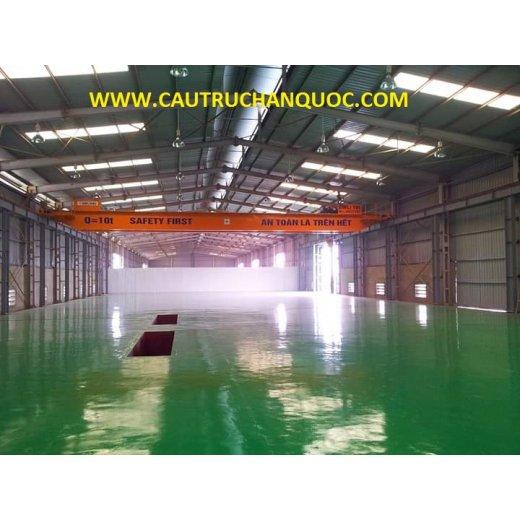 Cầu trục 10 tấn hàn quốc 2 dầm đôi khẩu độ nhà xưởng 25m