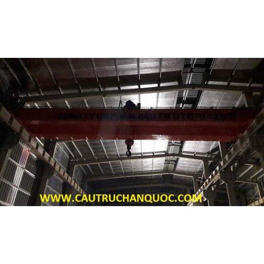 Cầu trục 20 tấn hàn quốc 2 dầm đôi khẩu độ nhà xưởng 10m