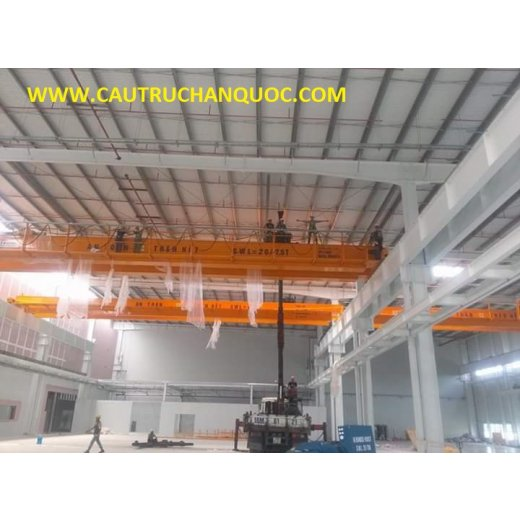 Cầu trục 20 tấn hàn quốc 2 dầm đôi khẩu độ nhà xưởng 20m
