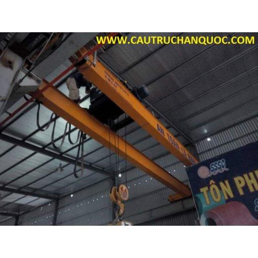 Cầu trục 3 tấn hàn quốc 2 dầm đôi khẩu độ nhà xưởng 10m