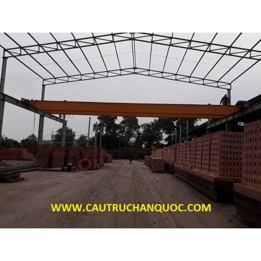Cầu trục 3 tấn hàn quốc 2 dầm đôi khẩu độ nhà xưởng 15m