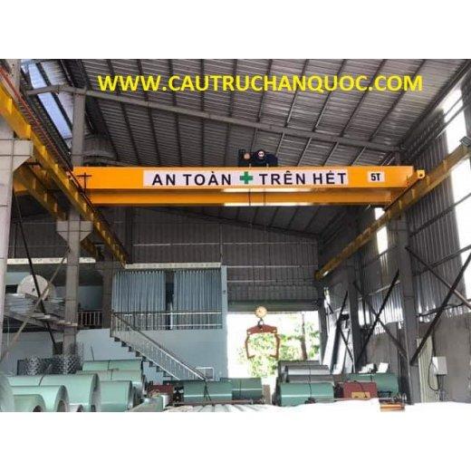 Cầu trục 5 tấn hàn quốc 2 dầm đôi khẩu độ nhà xưởng 10m