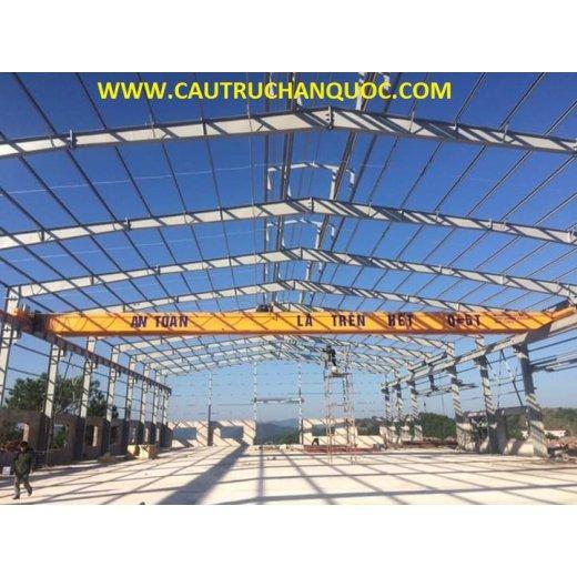 Cầu trục 5 tấn hàn quốc 2 dầm đôi khẩu độ nhà xưởng 25m