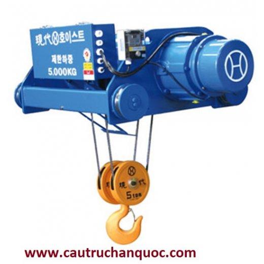 Palang cáp điện Hyundai 10 tấn 12m dầm đôi