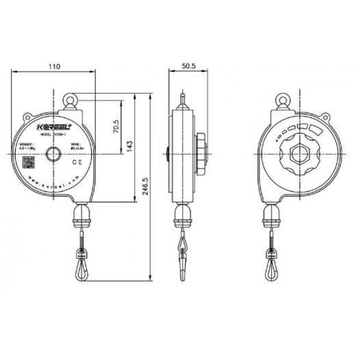 Pa lăng cân bằng(Spring balancer) KOSB-1