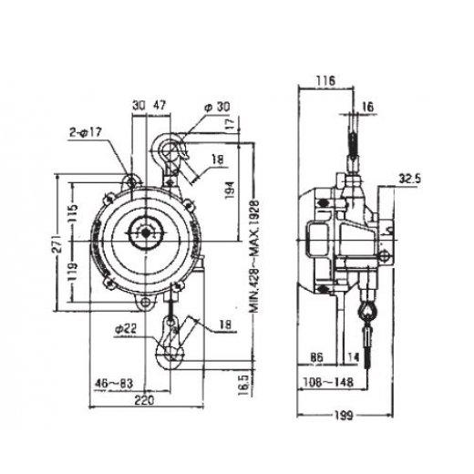 Pa lăng cân bằng(Spring balancer) SWF-60,70,80 Series