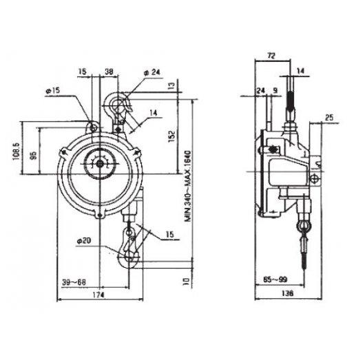 Pa lăng cân bằng(Spring balancer) SWF-9,15 Series