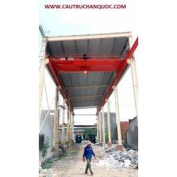 Cầu trục 10 tấn hàn quốc 2 dầm đôi khẩu độ nhà xưởng 10m
