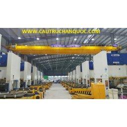 Cầu trục 10 tấn hàn quốc 2 dầm đôi khẩu độ nhà xưởng 15m