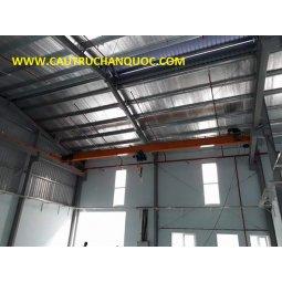 Cầu trục 1 tấn hàn quốc 1 dầm đơn khẩu độ nhà xưởng 20m