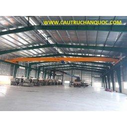 Cầu trục 1 tấn hàn quốc 1 dầm đơn khẩu độ nhà xưởng 25m