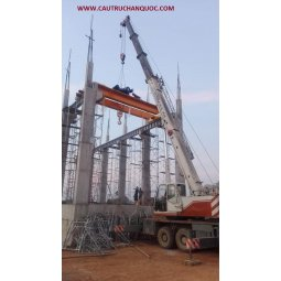 Cầu trục 20 tấn hàn quốc chế độ làm việc nặng fem 4m ngành thép
