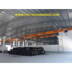 Cầu trục 2 tấn hàn quốc 1 dầm đơn khẩu độ nhà xưởng 25m