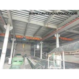 Cầu trục 2 tấn hàn quốc 1 dầm đơn khẩu độ nhà xưởng 10m