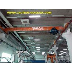 Cầu trục 2 tấn hàn quốc 1 dầm đơn khẩu độ nhà xưởng 15m