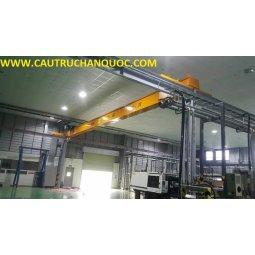 Cầu trục 3 tấn hàn quốc 1 dầm đơn khẩu độ nhà xưởng 15m