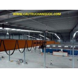 Cầu trục 3 tấn hàn quốc 1 dầm đơn khẩu độ nhà xưởng 25m