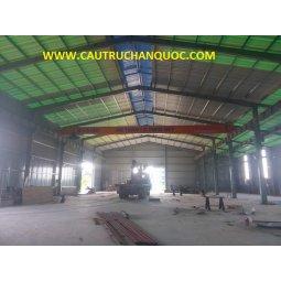 Cầu trục 5 tấn hàn quốc 1 dầm đơn khẩu độ nhà xưởng 15m
