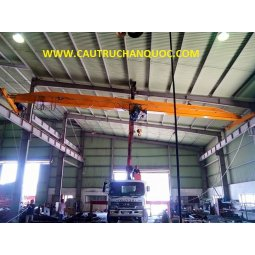 Cầu trục 5 tấn hàn quốc 1 dầm đơn khẩu độ nhà xưởng 10m