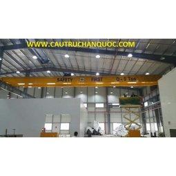 Cầu trục 5 tấn hàn quốc 2 dầm đôi khẩu độ nhà xưởng 15m