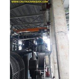 Cầu trục 7.5 tấn hàn quốc 1 dầm đơn khẩu độ nhà xưởng 15m