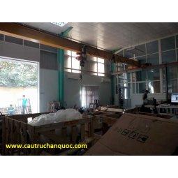Cầu trục 1 tấn hàn quốc 1 dầm đơn khẩu độ nhà xưởng 10m
