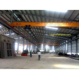 Cầu trục 5 tấn hàn quốc 1 dầm đơn khẩu độ nhà xưởng 25m