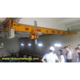 Cầu trục dầm treo tải 3 tấn hàn quốc khẩu độ 15m