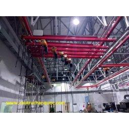Cầu trục treo máng C đẩn tay tải 1 tấn Hàn Quốc