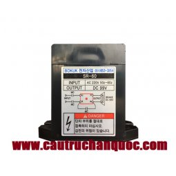 DIOT SR60  chỉnh lưu dòng điện 3Pha 380V sang 1Pha 90V palang hàn quốc