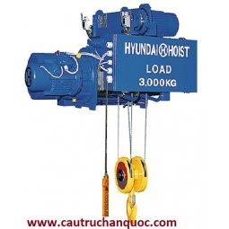 Palang cáp điện Hyundai 10 tấn 12m dầm đơn